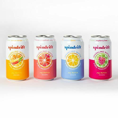 Spindrift Sparkling Water 4 Flavor Variety Pack Made 12 Fl Oz Pack of 20