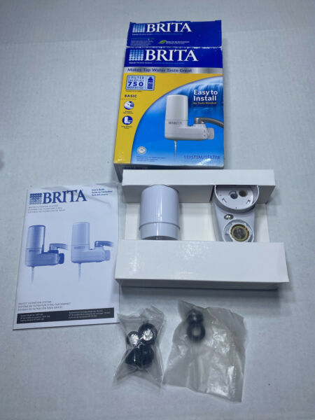 Brita Faucet Mount Water Filtration System Filter White Open Box