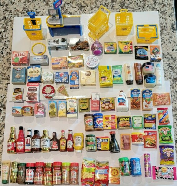Lot of over 80 5 Surprise Mini Brands Gold Rush Toy and Food $89.00