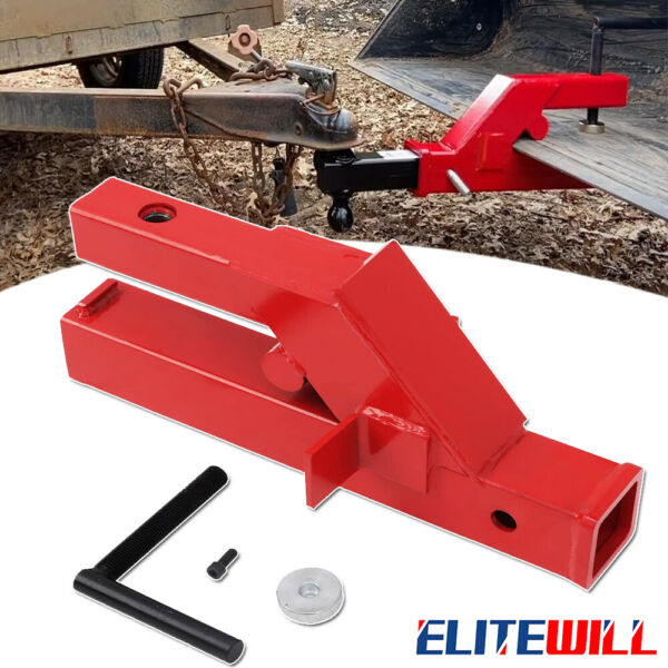 Clamp On Trailer Hitch 2quot; Ball Mount Receiver For Deere Bobcat Tractor Bucket $50.00