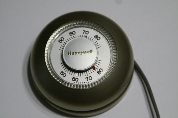 Vintage Honeywell T87F 2873 2 Round Wall Heat Thermostat Unit As Shown $24.99