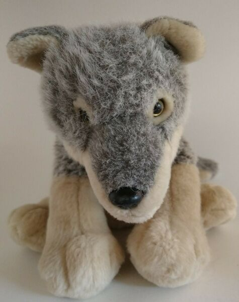 Wolf Dog Plush 11quot; Stuffed Animal Toy Made by K amp; M Industrial in India $27.00