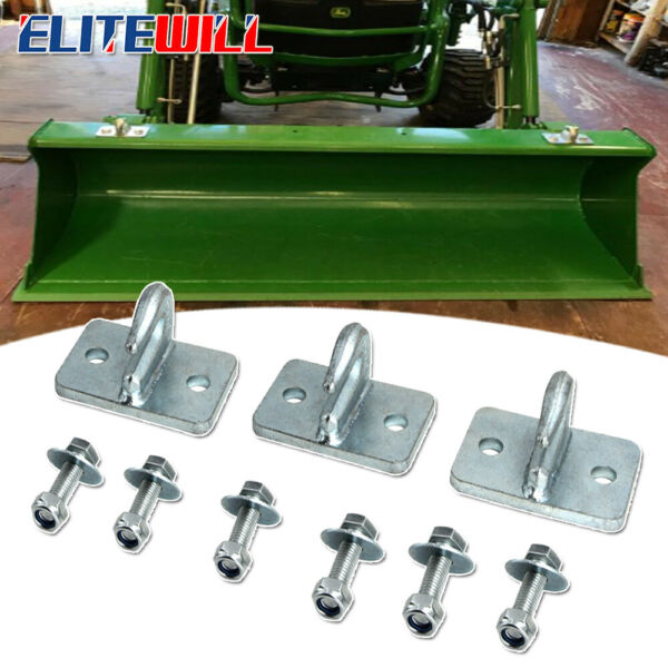 3Pcs 5 16quot; Bolt On Grab Hooks for Skid Steer Loader Plate Tractor Bucket Chains $39.99