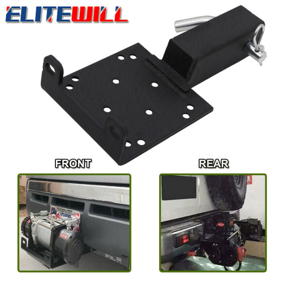 Universal Recovery Winch Mounting Plate Trailer Hitch Mount Bracket Receiver ATV $51.49
