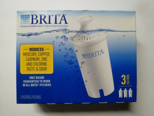 Brita Pitcher Replacement Filters 3 Pack White Brita Filters For Brita Pitchers