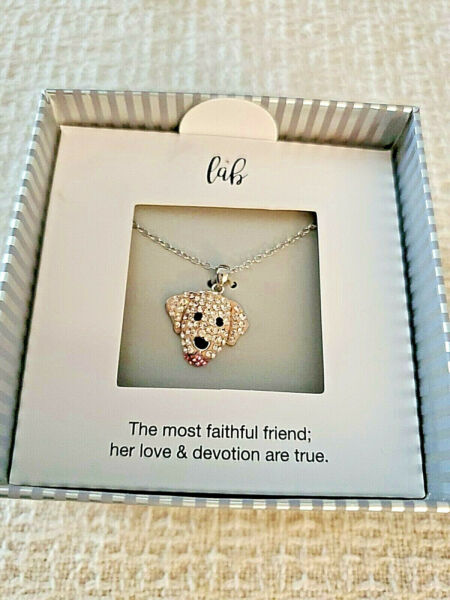 KOHLS DOG SILVER NECKLACE 18quot; IN ORIGINAL BOX amp; TAGS RETAIL $50 BRAND NEW W BOX $20.00