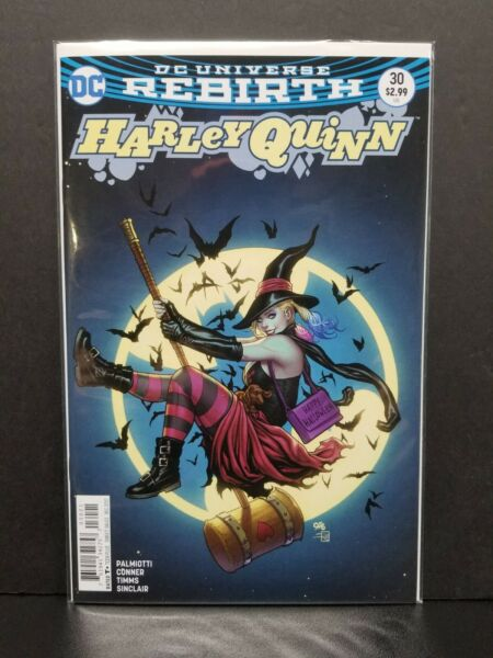 Harley Quinn Rebirth #30 Frank Cho Variant Halloween Witch Bats Cover Palmiotti