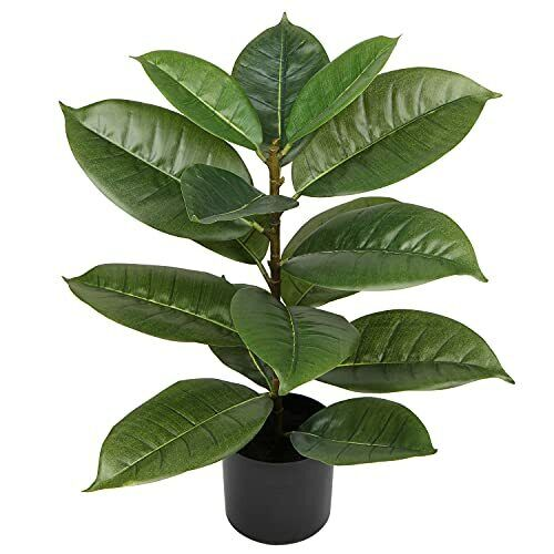 22quot; Artificial Rubber Tree Fake Tree Tall Plant Faux Trees Indoor Large Green... $38.11