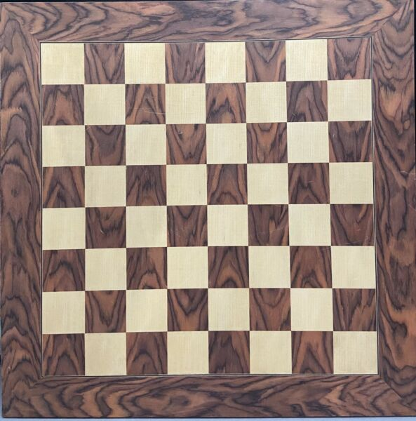 Large wood inlaid game board from Spain for Chess Forum 23 3 4quot; x 23 3 4quot;