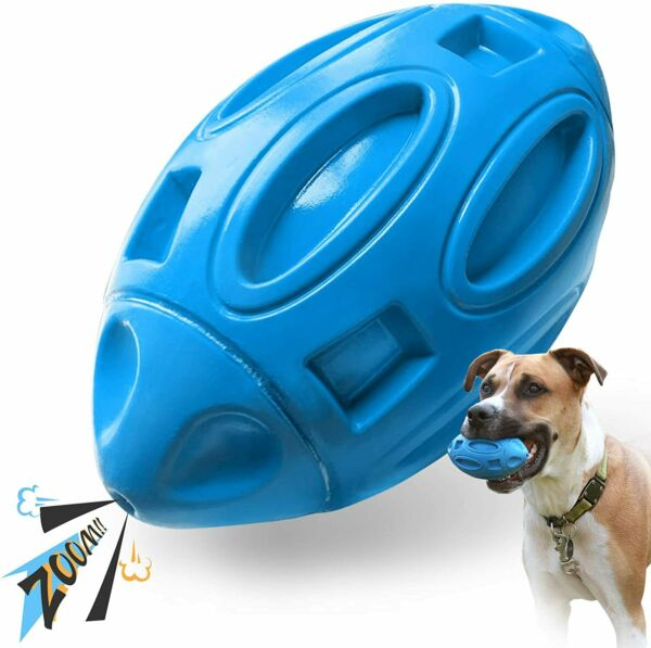 Dog Toys For Aggressive Chewers Indestructible Outdoor Squeaky Dog Fetch Ball $12.68