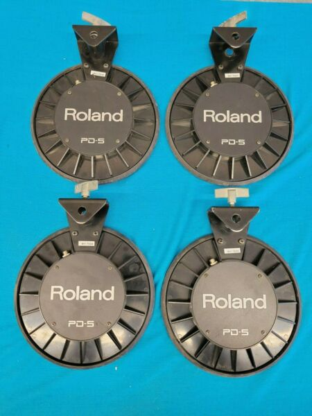 LOT OF 4 ROLAND PD 5 DRUM TRIGGERS PADS ALL TESTED AND FULLY FUNCTIONAL $125.00