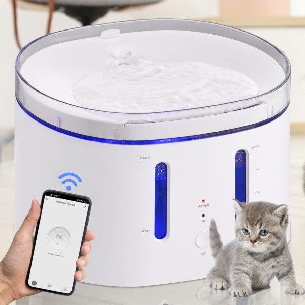 Cat Water Fountain Dog Water Fountain 2.5L 84Oz Automatic Dog Water Dispenser $56.99