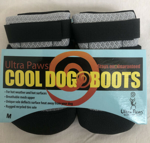 ULTRA PAWS COOL DOG BOOTS SILVER SIZE MEDIUM NWT $21.99