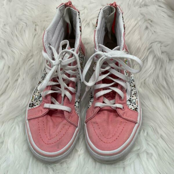 Vans Off the Wall Girl#x27;s 3 Pink Unicorn Dog High Top Sneakers $25.00