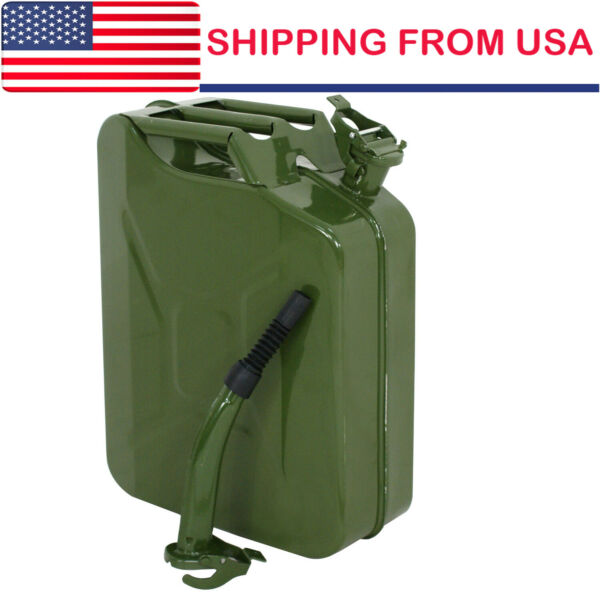 5 Gallon Gas Can Metal Gasoline Container Tank Emergency Backup Diesel New $36.75
