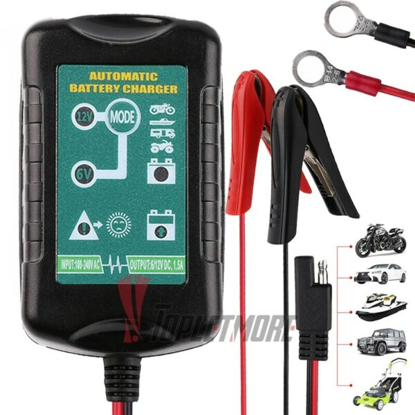 Automatic 6V 12V Battery Charger Maintainer Motorcycle Car Trickle For Tender $22.51