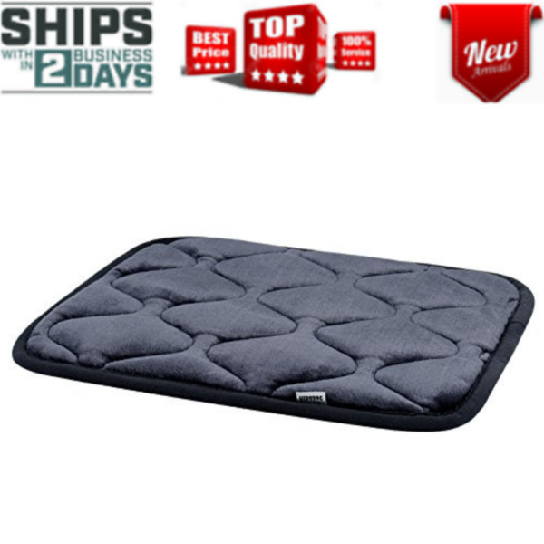 Dog Bed Kennel Pad Crate Mat Washable Chew Proof Orthopedic Antislip Grey New $15.75