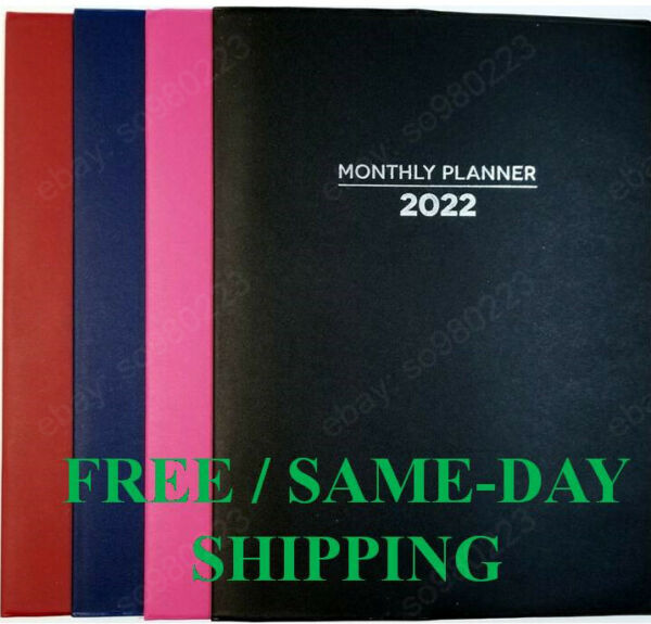2022 Monthly Planners Appointment Calendar Agenda Organizer 10quot;x7.5quot; FAST SHIP $3.50