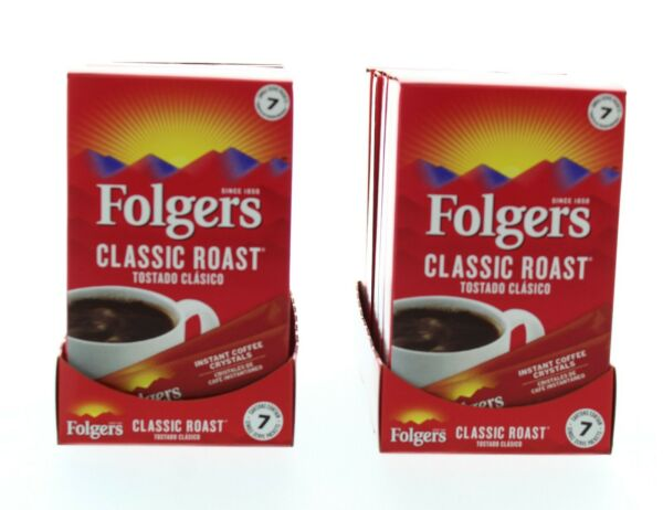 Folgers Instant Coffee Classic Roast Single Serve Packets 84 Count $19.99