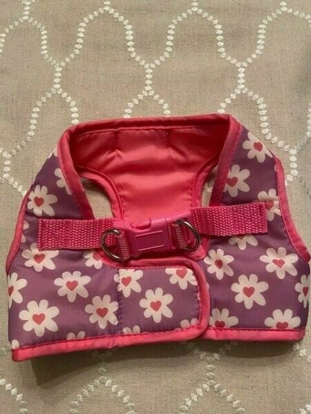 NWOT Simply Dog Pink and Puple Daisies Body Harness Size Small $6.00