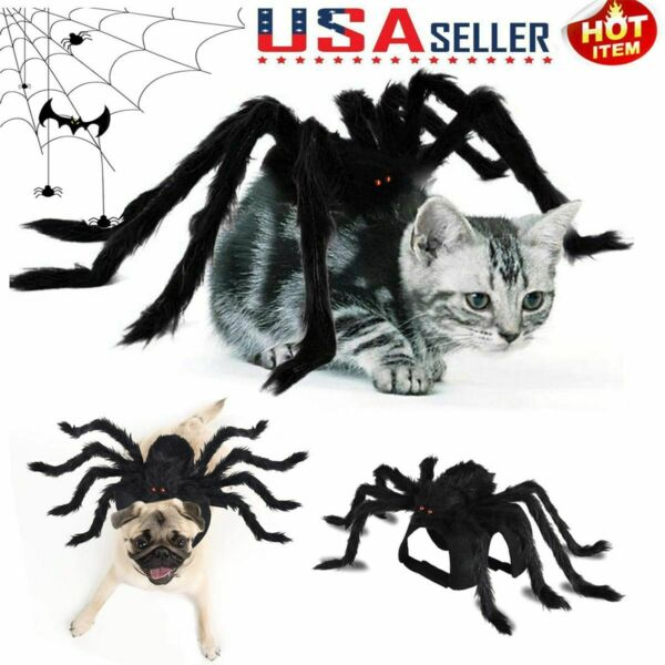 Halloween Pet Spider Clothes Puppy Cosplay Costume Dogs Cats Party Funny Outfit $11.59
