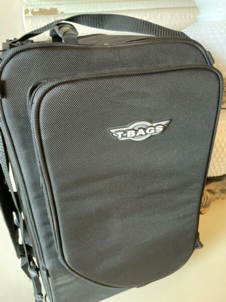 T Bags LARGE motorcycle luggage back rest with rain cover and backpack straps $220.00