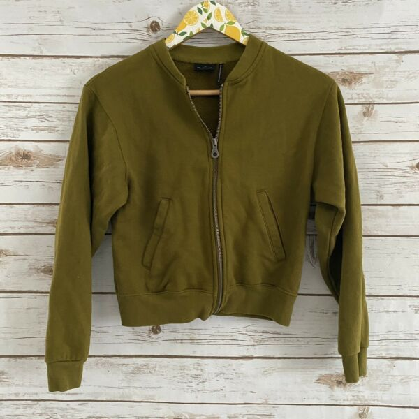 Out From Under for Urban Outfitters Green Full Zip Jacket Sweater Size XS $20.99