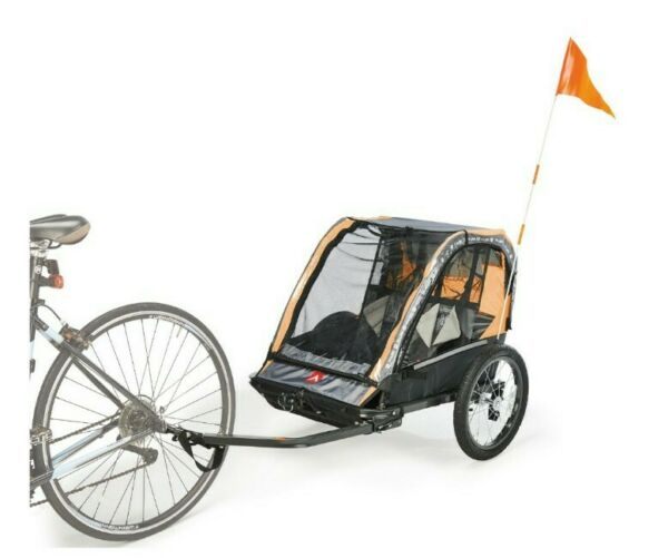 Allen Sports Deluxe Lightweight Steel 2 Child Bicycle Trailer amp; Stroller AS2 O $89.95