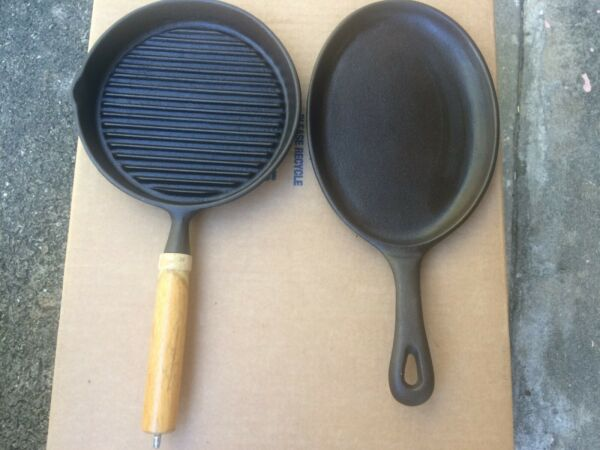 Vintage Cast Iron Griddles ChinaTaiwan