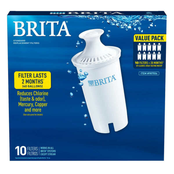 Brita Replacement Filters Value 10 Pack Filter # 987554 Pitcher Filter #1 0635