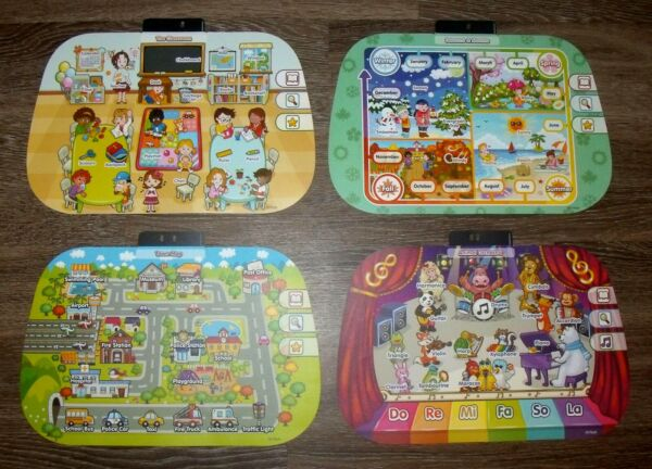 VTech Touch and Learn Pink amp; Purple Activity Desk REPLACEMENT CARDS only EUC