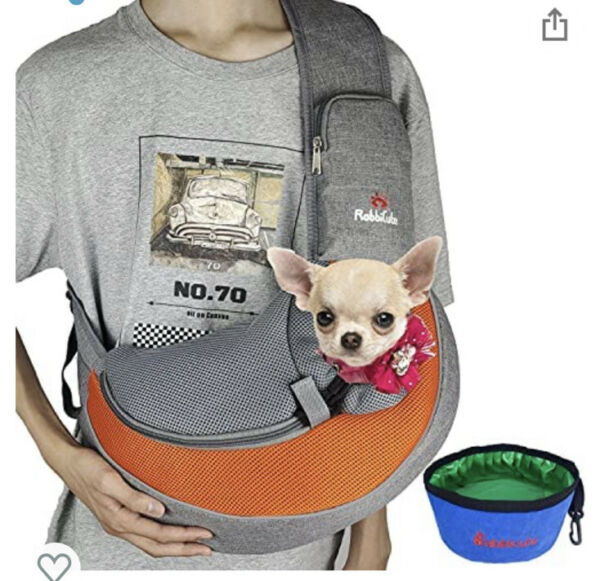 RABBICUTE Pet Dog Sling Carrier with Breathable and Soft Mesh for Small Dog $28.35