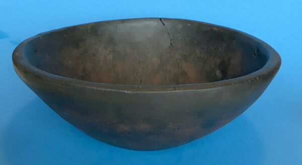 Large Treenware Fruit Bowl Early Antique Style Great Reproduction