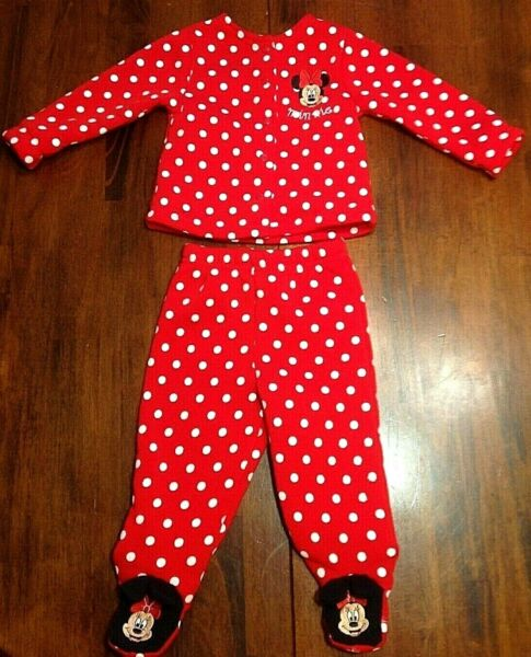 BABY GIRLS 3 to 6 MONTH DISNEY MICKEY MINNIE MOUSE FLEECE 2 PIECE OUTFIT