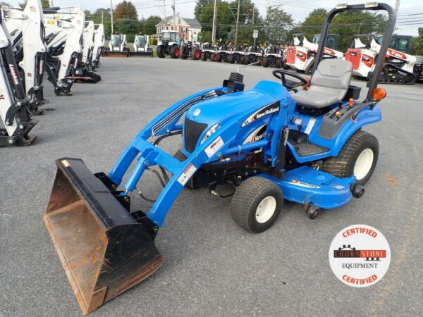NEW HOLLAND TZ24DA TRACTOR W LOADER amp; BELLY MOWER 610 HRS 4X4 HYDRO 1 OWNER $11900.00