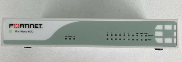 Fortinet Fortigate FG 60D Firewall w Adapter Used