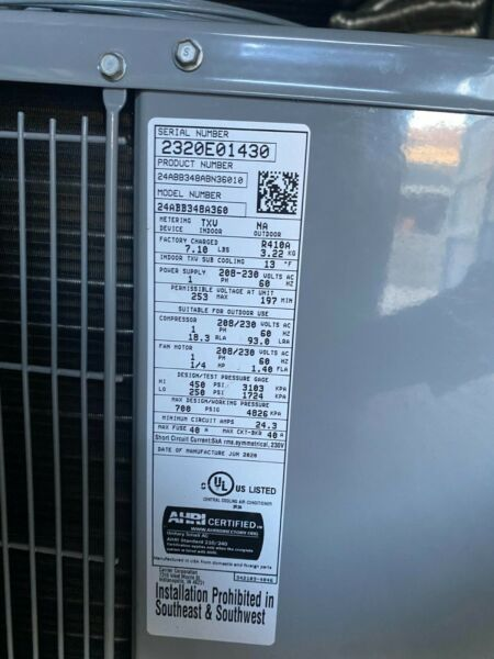 carrier 4ton 13 seer residnetial air conditioner $800.00