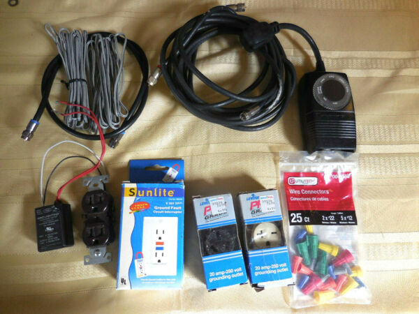 Lot electric parts circuit interrupter electrical cableground outlet Lot#2 $15.00