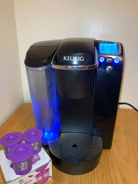 Keurig B70 Single Serve Coffee Maker with 3 Reusable K Cups Working great Clean