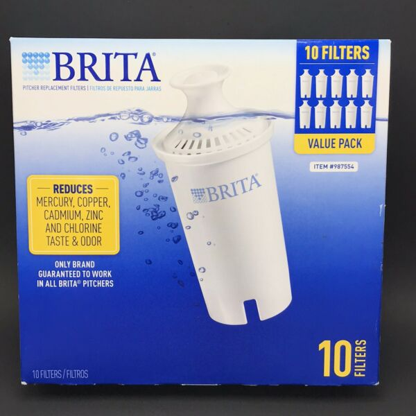 BRITA 10 Pack Water Filter Replacements For Pitcher New Sealed Open Box