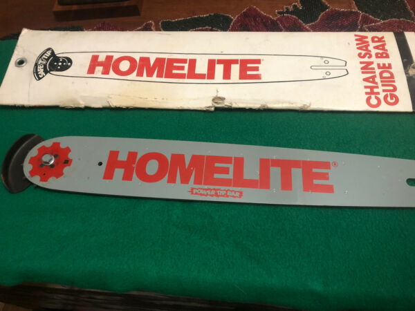"""Homelite chainsaw bar. 16""""x2 3 4"""" with sprocket and safty tip. pt 16381 G3 $60.00"""