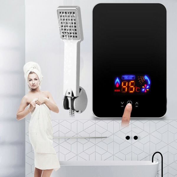 220V 6.5KW Electric Hot Water Heater Tankless Instant Thermostat Touch Operation $71.00