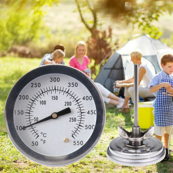 Stainless Steel BBQ Smoker Grill Thermometer Kitchen Temperature Gauge N 0 300℃