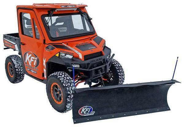 KFI 66quot; Poly Snow Plow Complete Kit w MadDog 4500# 2013 2019 Ranger 900 XP