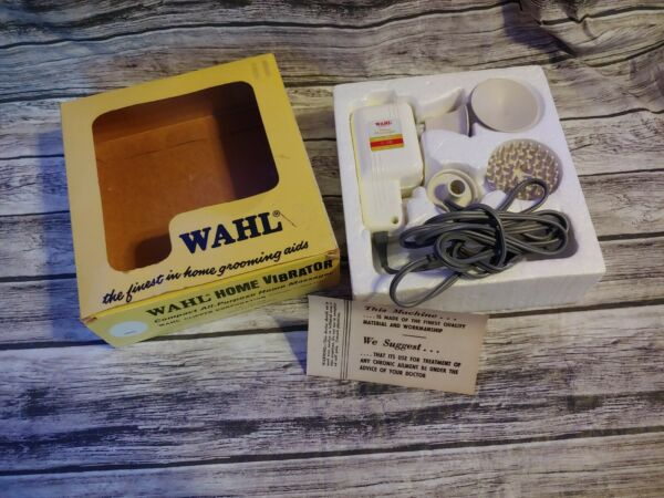 Vtg WAHL HOME ELECTRIC MODEL E VIBRATOR MASSAGER Tested complete box body feet $49.00