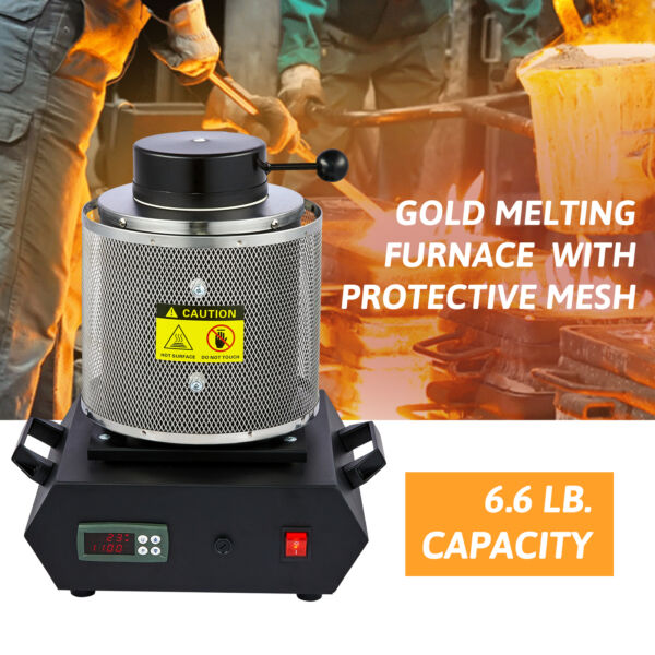 Automatic Melting Furnace Electric Gold Melting Furnace Gold Silver Lead Melting $210.43