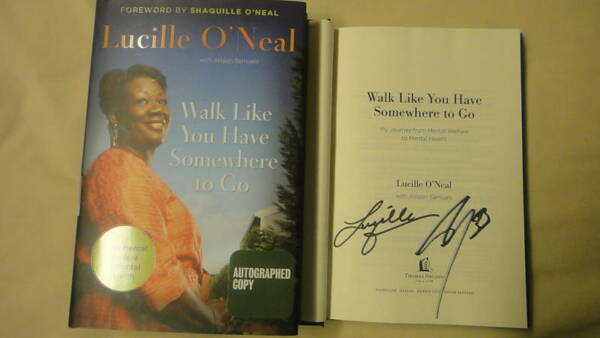 SIGNED Lucille Shaq O'Neal Book Walk Like You Have 1/1