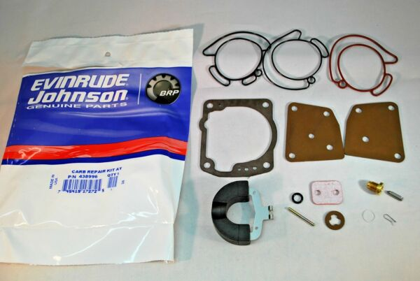 New Johnson Evinrude OEM Outboard Carb Kit with Float 438996 BRP OMC Carburetor $23.49