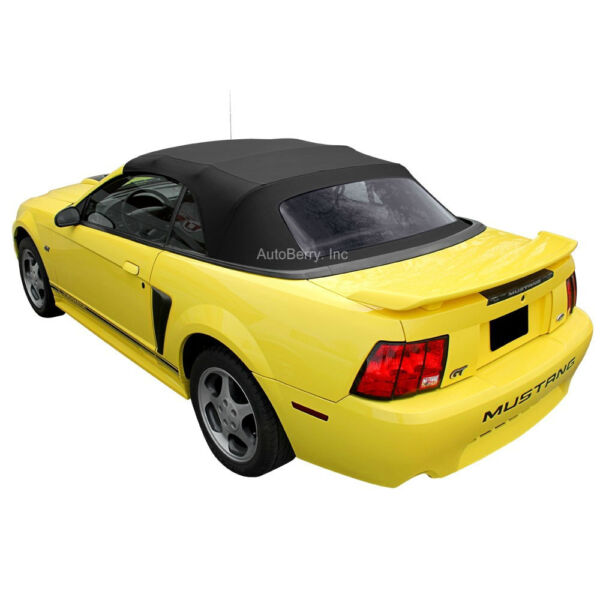 Ford Mustang Convertible Top Replacement & Plastic Window 1994-2004 Black
