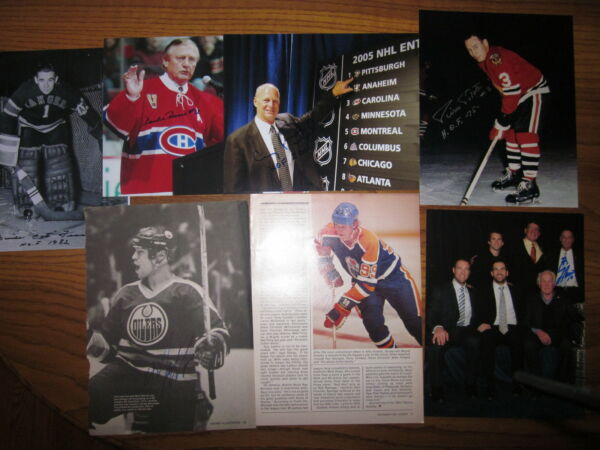 HOCKEY HALL OF FAME COLLECTION 200 AUTOGRAPHS ALL HOF-58 DECEASED-GRETZKY-ORR